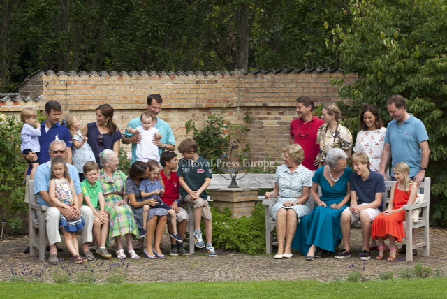 Royal Family from Denmark on Holiday