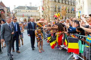 King Philipe and Queen Mathilde of Belgium First joyful entry of the Belgium King Philippe and Queen Mathilde in Leuven 06 September 2013. Photo: Albert Nieboer-RPE  NETHERLANDS OUT