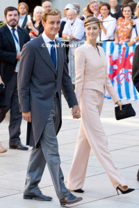 Pierre Casiraghi and Beatrice Borromeo Saint‐Maximin‐la‐Sainte‐Baume, FRANCE - SEPTEMBER 21: Religious ceremony for HRH Prince Félix of Luxemburg and Miss Claire Lademacher on September 21, 2013 in Saint‐Maximin‐la‐Sainte‐Baume, FRANCE. Photo: Albert Nieboer-RPE NETHERLANDS OUT