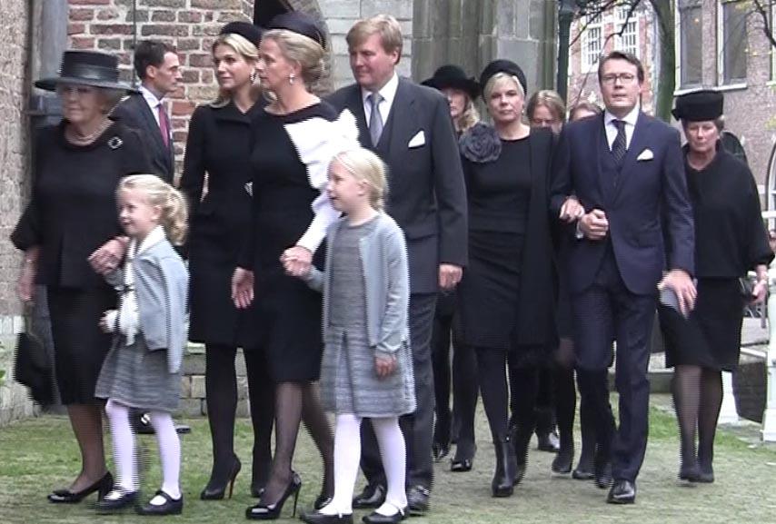 VIPs and Royals at memorial for Prince Johan Friso