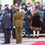 Grand Duke Henri of Luxemburg, Queen Mathilde of Belgium, King Philippe of Belgium, Grand Duchess Maria Teresa of Luxemburg 02-12-2013 LUXEMBURG – LUXEMBURG - Belgium King Philippe and Queen Mathilde for a introduction visit in Luxemburg. Photo: RPE-Albert Nieboer / NETHERLANDS OUT