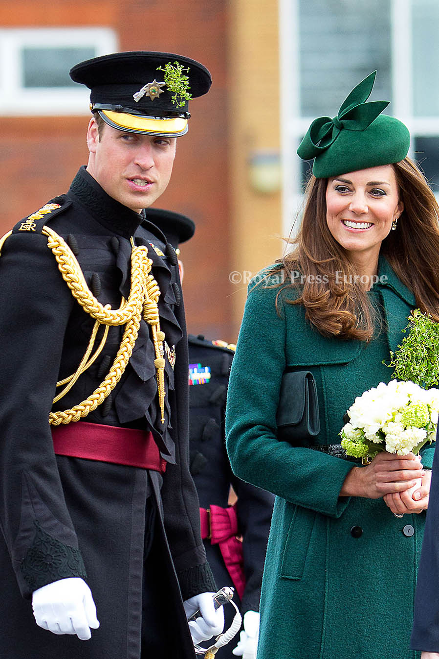 Kate and William Guest of Honor at the St Patrick's Parade in Aldershot