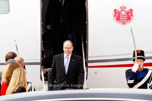 HRH Prince Albert of Monaco arrives for a 2-Day visit to the Netherlands at Schiphol Airport. Schiphol 03 June 2014 Photo: RPE-Albert Nieboer  NETHERLANDS OUT