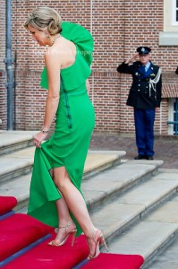 Queen Maxima of the Netherlands arrive for the gala diner at Palace Het Loo where Prince Albert of Monaco opened the exhibition about his mother Grace Kelly. Apeldoorn, 03 June 2014 Photo: RPE-Albert Nieboer  NETHERLANDS OUT