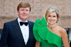 King Willem-Alexander and Queen Maxima of the Netherlands arrives for the gala diner at Palace Het Loo where Prince Albert of Monaco opened the exhibition about his mother Grace Kelly. Apeldoorn, 03 June 2014 Photo: RPE-Albert Nieboer  NETHERLANDS OUT