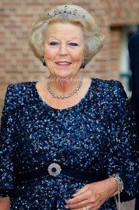 Princess Beatrix arrive for the gala diner at Palace Het Loo where Prince Albert of Monaco opened the exhibition about his mother Grace Kelly. Apeldoorn, 03 June 2014 Photo: RPE-Albert Nieboer  NETHERLANDS OUT