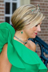Queen Maxima of the Netherlands  before the gala diner at Palace Het Loo where Prince Albert of Monaco opened the exhibition about his mother Grace Kelly. Apeldoorn, 03 June 2014 Photo: RPE-Albert Nieboer  NETHERLANDS OUT