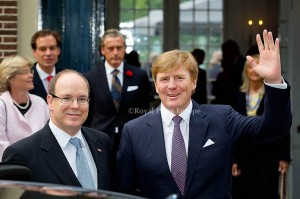Prince Albert of Monaco and King Willem-Alxander of the Netherlands after the opening of the exhibition about Grace Kelly in Palace Het Loo. Apeldoorn, 03 June 2014 Photo: RPE-Albert Nieboer  NETHERLANDS OUT