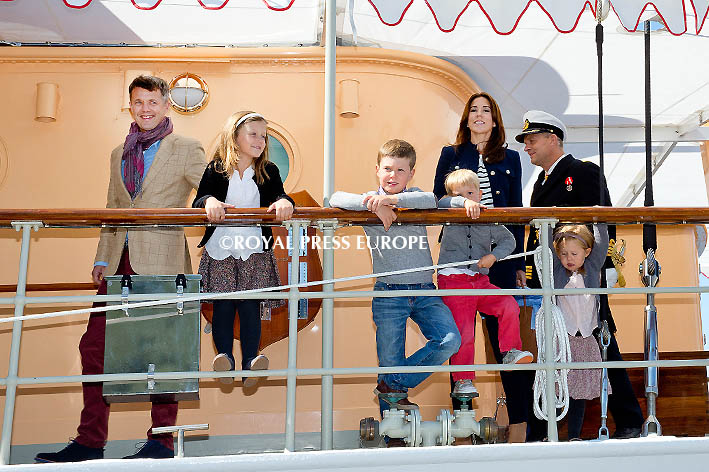 Danish Crown Prince Family Arrives at Port of Narsarsuaq