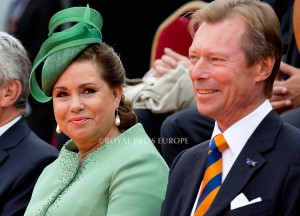 Grand Duke Henri of Luxembourg and Grand Duchess Maria Teresa in Luxembourg  Festivities on the occasion of the 200th jubilee of the Kingdom of the Netherlands in Maastricht 30 August 2014 PHOTO: Albert Nieboer-Royal Press Europe  NETHERLANDS OUT