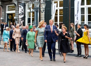 King Willem-Alexander and Queen Maxima and King Filip (Philippe) and Queen Mathilde and Grand Duke Henri of Luxembourg and Grand Duchess Maria Teresa in Luxembourg and Daniela Schadt and Joachim Gauck at the Vrijthof  Festivities on the occasion of the 200th jubilee of the Kingdom of the Netherlands in Maastricht 30 August 2014 PHOTO: Albert Nieboer-Royal Press Europe  NETHERLANDS OUT