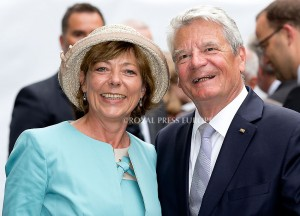 Daniela Schadt and Joachim Gauck  Festivities on the occasion of the 200th jubilee of the Kingdom of the Netherlands in Maastricht 30 August 2014 PHOTO: Albert Nieboer-Royal Press Europe  NETHERLANDS OUT