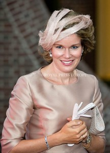 Queen Mathilde of Belgium  Festivities on the occasion of the 200th jubilee of the Kingdom of the Netherlands in Maastricht 30 August 2014 PHOTO: Albert Nieboer-Royal Press Europe  NETHERLANDS OUT
