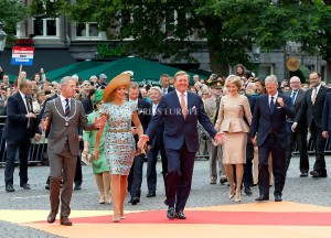 King Willem-Alexander and Queen Maxima and King Filip (Philippe) and Queen Mathilde and Grand Duke Henri of Luxembourg and Grand Duchess Maria Teresa in Luxembourg and Daniela Schadt and Joachim Gauck  Festivities on the occasion of the 200th jubilee of the Kingdom of the Netherlands in Maastricht 30 August 2014 PHOTO: Albert Nieboer-Royal Press Europe  NETHERLANDS OUT