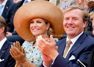 King Willem-Alexander and Queen Maxima of the Netherlands  Festivities on the occasion of the 200th jubilee of the Kingdom of the Netherlands in Maastricht 30 August 2014 PHOTO: Albert Nieboer-Royal Press Europe  NETHERLANDS OUT
