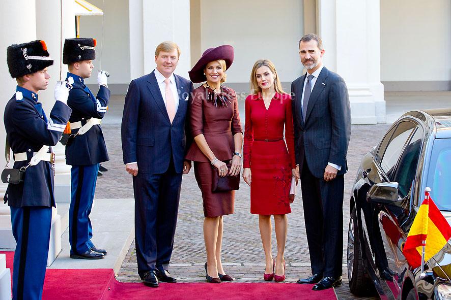 Spanish Royals Visit Netherlands