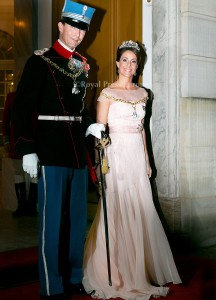Prince Joachim and Princess Marie of Denmark  Arrival of danish royal family at the New Years reception at Amalienborg Palace in Copenhagen, 01-01-2015  PHOTO: RPE Albert Nieboer / NETHERLANDS OUT