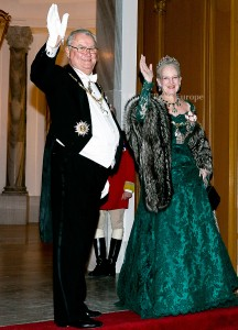 Queen Margrethe and Prince Consort Henrik of Denmark  Arrival of danish royal family at the New Years reception at Amalienborg Palace in Copenhagen, 01-01-2015  PHOTO: RPE Albert Nieboer / NETHERLANDS OUT