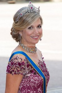 Queen Maxima of the Netherlands arrives for the wedding of Prince Carl Philip and former model Sofia Hellqvist in Stockholm, Sweden, 13 June 2015. The couple, who have been dating since 2009, announced their engagement a year ago. Photo: Albert Nieboer/RPE/NETHERLANDS OUT