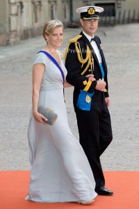 Prince Edward the Earl of Wessex and Sophie the Countess of Wessex arrives for the wedding of Prince Carl Philip and former model Sofia Hellqvist in Stockholm, Sweden, 13 June 2015. The couple, who have been dating since 2009, announced their engagement a year ago. Photo: Albert Nieboer/RPE/NETHERLANDS OUT