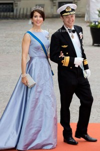Crown Prince Frederik and Crown Princess Mary of Denmark arrives for the wedding of Prince Carl Philip and former model Sofia Hellqvist in Stockholm, Sweden, 13 June 2015. The couple, who have been dating since 2009, announced their engagement a year ago. Photo: Albert Nieboer/RPE/NETHERLANDS OUT