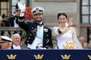 Prince Carl Philip and Princess Sofia of Sweden Wedding of Prince Carl Philip of Sweden and Sofia Hellqvist at StockholmPHOTO: Albert NieboerNETHERLANDS OUT