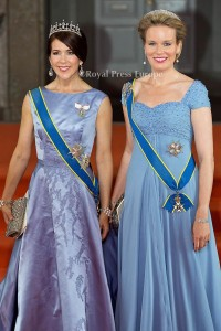 Crown Princess Mary of Denmark and Queen Mathilde of Belgium Wedding of Prince Carl Philip of Sweden and Sofia Hellqvist at StockholmPHOTO: Albert NieboerNETHERLANDS OUT
