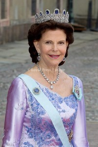 Queen Silvia and King Carl Gustaf of Sweden arrives for the wedding of Prince Carl Philip and former model Sofia Hellqvist in Stockholm, Sweden, 13 June 2015. The couple, who have been dating since 2009, announced their engagement a year ago. Photo: Albert Nieboer/RPE/NETHERLANDS OUT