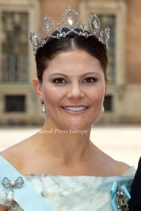 Crown Princess Victoria of Sweden arrives for the wedding of Prince Carl Philip and former model Sofia Hellqvist in Stockholm, Sweden, 13 June 2015. The couple, who have been dating since 2009, announced their engagement a year ago. Photo: Albert Nieboer/RPE/NETHERLANDS OUT