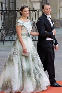 Crown Princess Victoria, Prince Daniel of Sweden arrives for the wedding of Prince Carl Philip and former model Sofia Hellqvist in Stockholm, Sweden, 13 June 2015. The couple, who have been dating since 2009, announced their engagement a year ago. Photo: Albert Nieboer/RPE/NETHERLANDS OUT