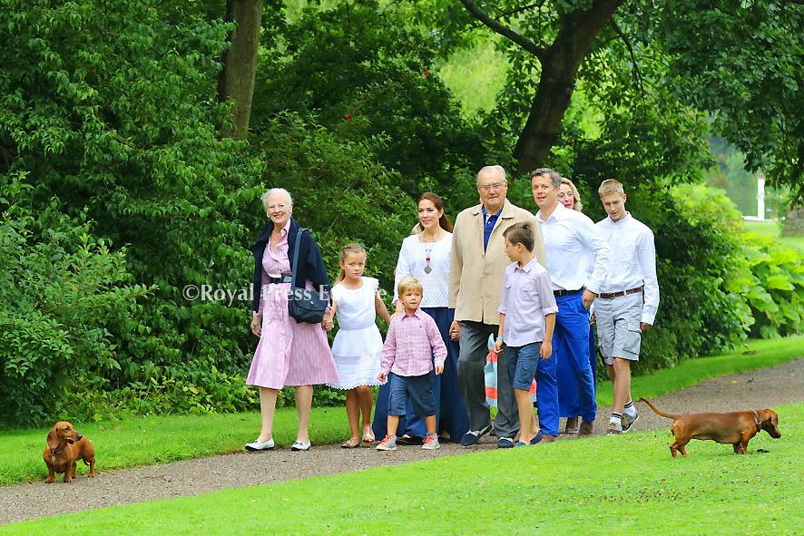 Danish Royal Family Poses for Media