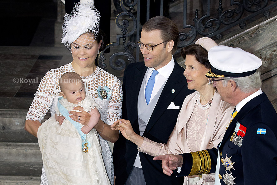 The Royal Families from Luxemburg and Sweden celebrate Pentecost