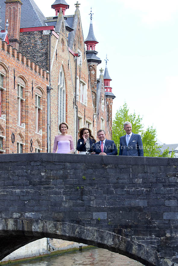 King Abdullah II and Queen Rania of Jordan finished their state Visit to Belgium