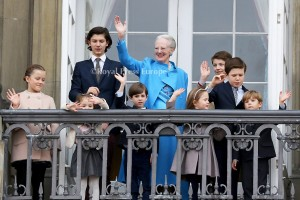 Celebrations of her Majesty's 76th birthday at Amalienborg Royal Palace on April 16, 2016 in Copenhagen, Denmark