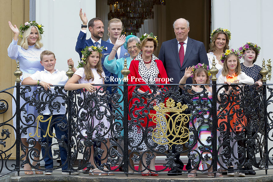 The Royal Family of Norway in Trondheim City for the Jubilee Tour