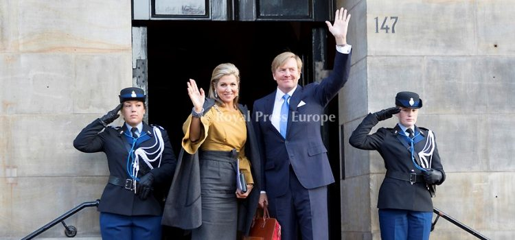 Royal Family of the Netherlands attend the New Year's reception 2017