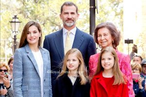 Spanish Royals Attend Easter