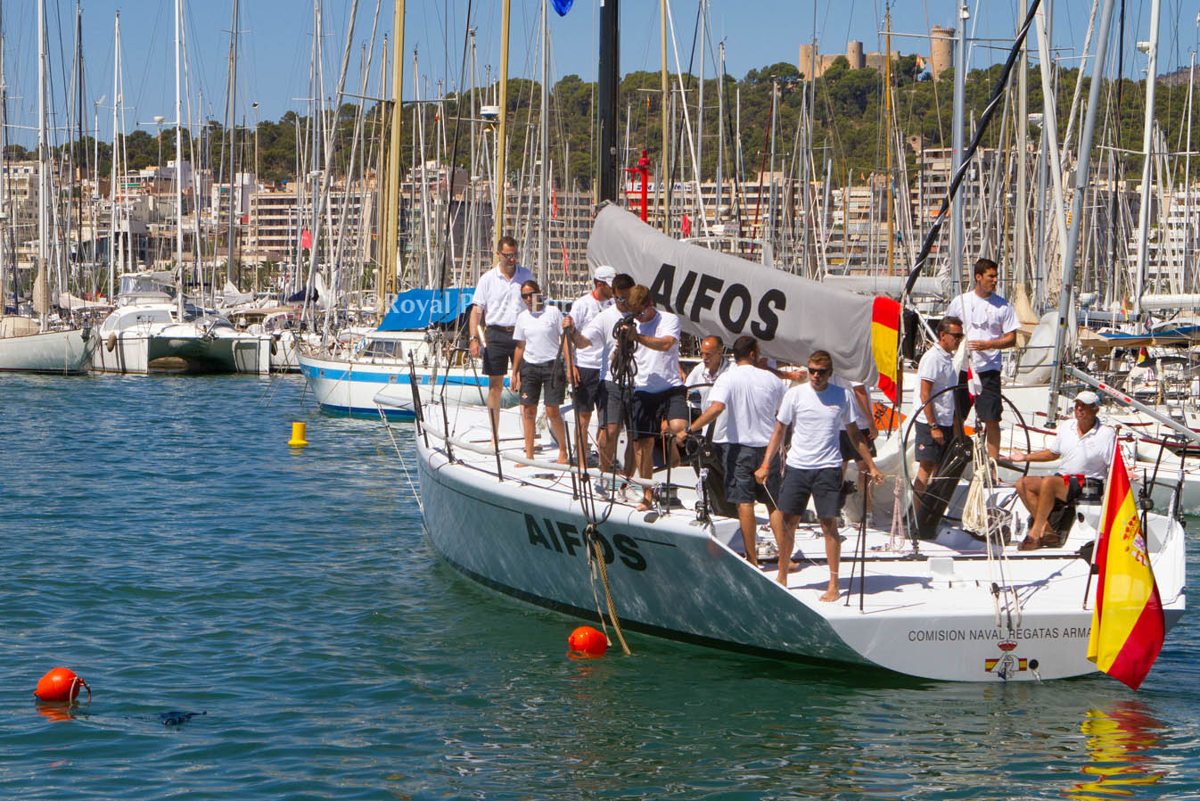 Crown Prince Felipe of Spain at Sailing Match in Mallorca