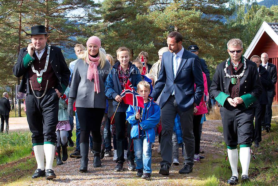 Norwegian Crown Princess Mette-Marit and Crown Prince Haakon visit county to Vest-Agder