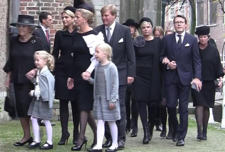 VIPs and Royals at memorial for Prince Johan Friso