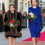 Grand Duchess Maria Teresa of Luxemburg, Queen Mathilde of Belgium 02-12-2013 LUXEMBURG – LUXEMBURG - Belgium King Philippe and Queen Mathilde for a introduction visit in Luxemburg. Photo: RPE-Albert Nieboer / NETHERLANDS OUT