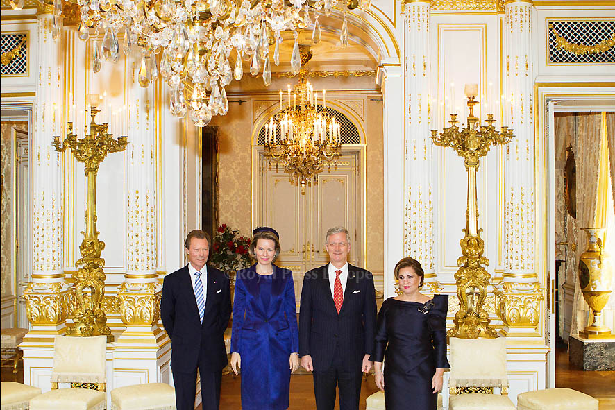 Belgium King Philippe and Queen Mathilde in Luxembourg