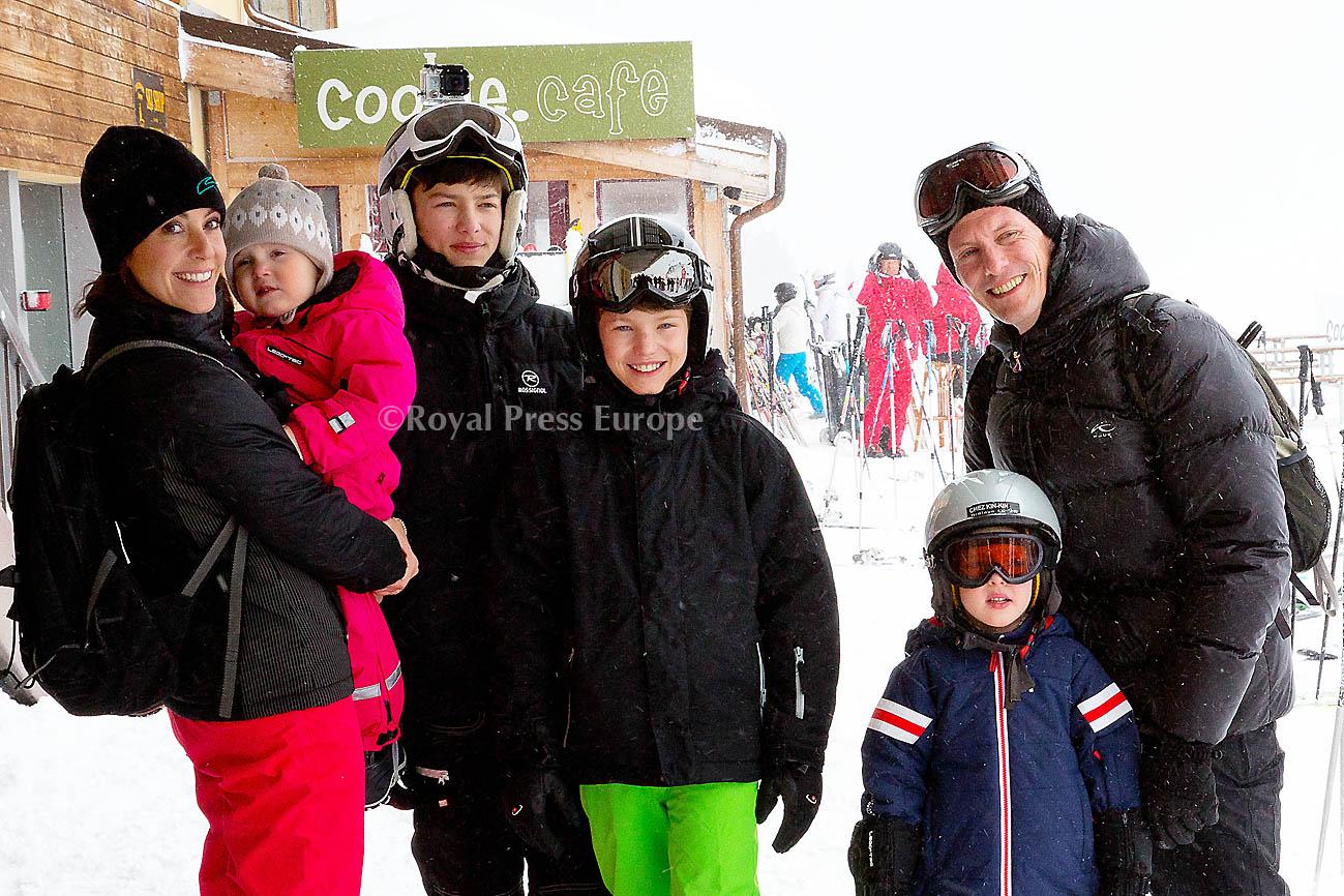 Danish Royal Family Travels to Switzerland