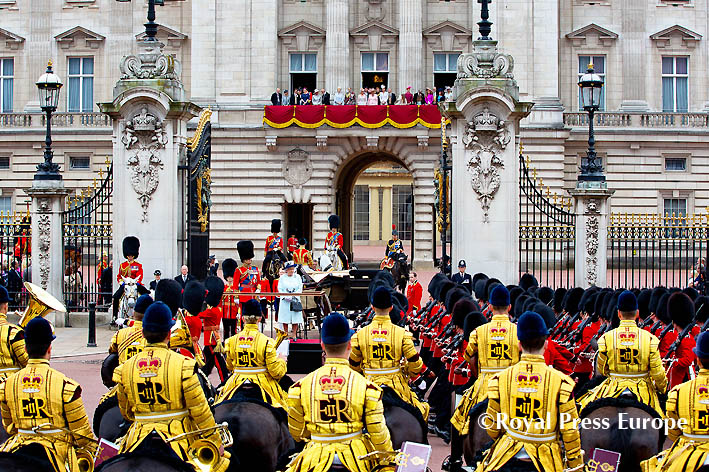 Royal Family Attends Queen's Birthday Parade