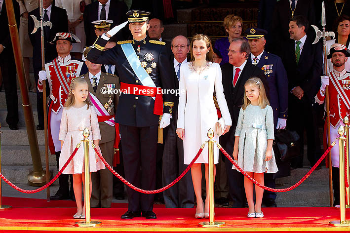 Spain's New King Felipe VI and His Family
