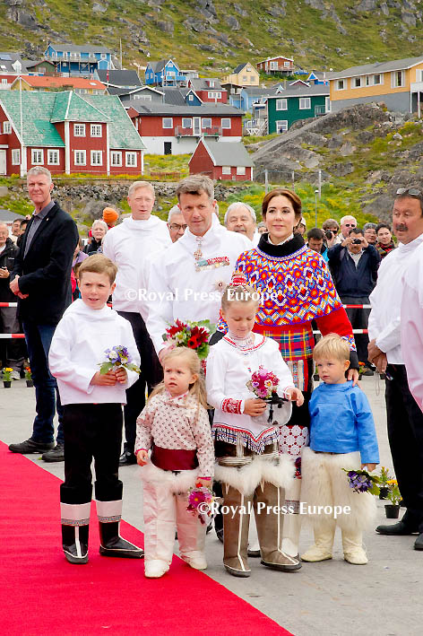 Danish Royal Family Continues Summer Tour in Greenland