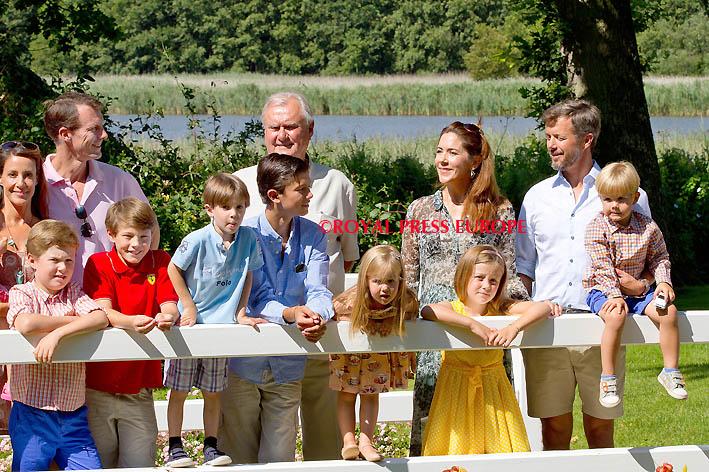 Danish royal family on holiday in Gråsten