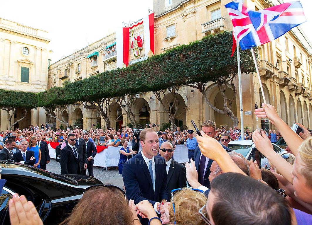 Prince William Visits Malta