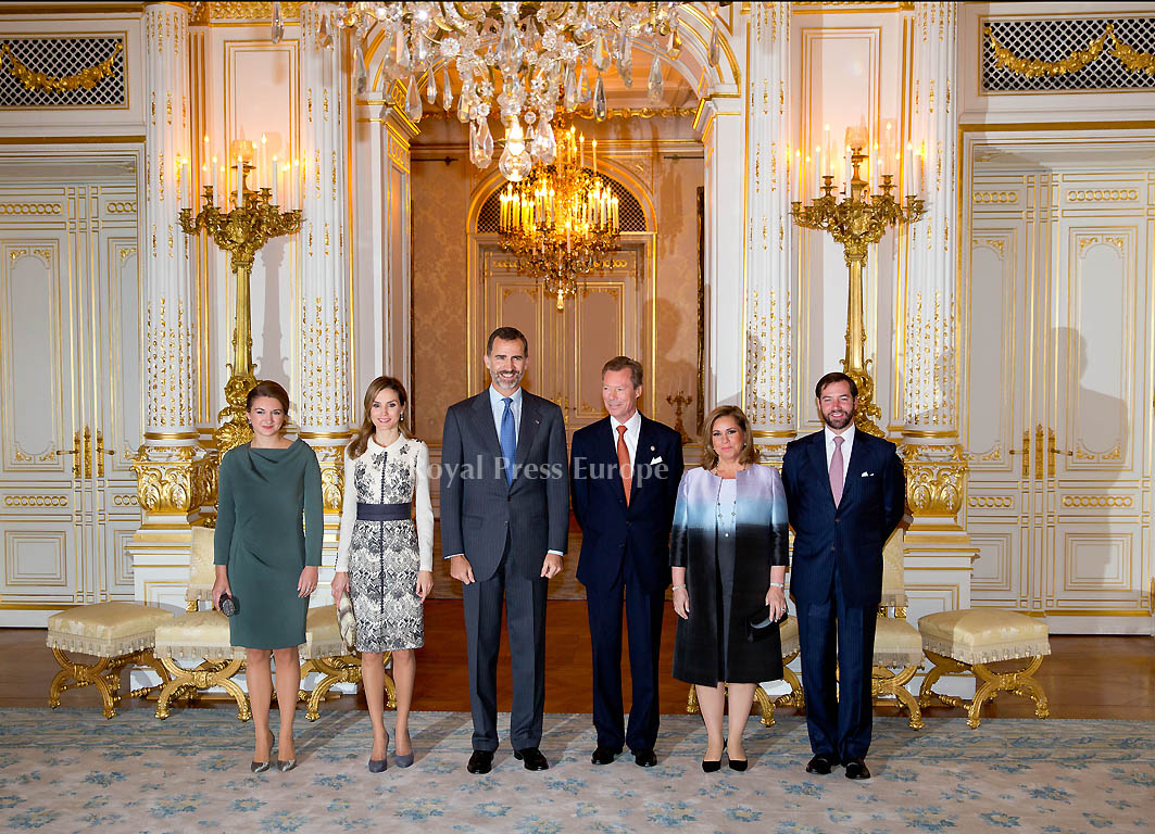 Spanish royalty visit Luxembourg