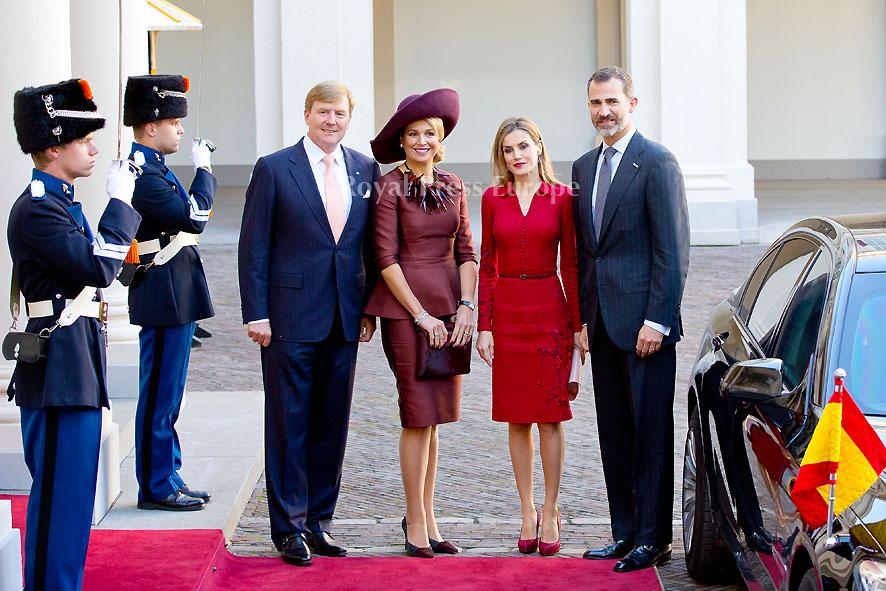 Spanish Royals Visit Netherlands